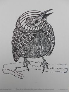 zentangled bird