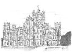 Image result for downton abbey house illustration