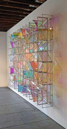 rainbow lighting and glass Interior Architecture, Interior Design, Decoration Design, Light Art, Installation Art, Home Deco, Glass Art, Street Art, Furniture Design