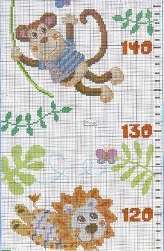 Solo Patrones Punto Cruz (pág. 582) | Aprender manualidades es facilisimo.com Cross Stitch Baby, Cross Stitch Alphabet, Cross Stitch Patterns, Alphabet And Numbers, Safari, Kids Rugs, Knitting, Holiday Decor, Floral
