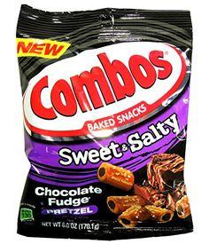 COMBOS BAKED SNACKS SWEET & SALTY CHOCOLATE FUDGE PRETZEL…