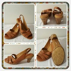 👡 NWOB Leather Sling Back Sandals 👡 ❌FINAL❌ Brand New Never Worn Genuine Leather Sling Back Sandals From Softspots Size 10 Medium. These Are In A Beautiful Luggage Tan Color Can Go With Anything Very Comfortable To Wear & Super Adorable Purchased Online From Woman Within 🚫 TRADES 🚫 PAYPAL 🚫 OFFERS FINAL MARKDOWN   👡 Softspots Shoes Sandals