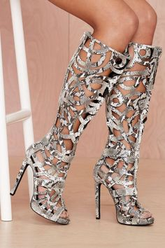 Jeffrey Campbell Scribble Leather Boot - Python