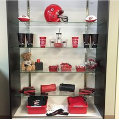 Check out our #ClintonArrow gift corner! We've got footballs for the kids, laundry bags for the athletes, blue tooth speakers for the music lovers, and MORE!