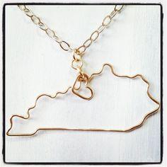 ky lover - kentucky necklace