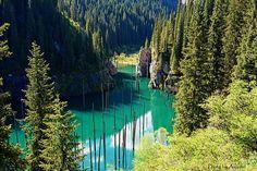 by ayazad73 on Flickr.  Kayindi lake in Almaty region, Kazakhstan.