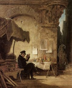 The Antiquary, 1847 by Carl Spitzweg Painting Print Art And Illustration, Painting Prints, Painting & Drawing, Monet, Carl Spitzweg, Antoine Bourdelle, People Reading, Caspar David Friedrich, Mary Cassatt