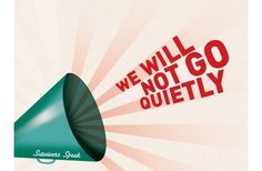 We Will Not Go Quietly by Kate Ravenscrofton Pozible #VAW