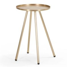 Alana Bedside Table, (was Narrow Nightstand, Bedside, My Ideal Home, Gold Interior, Boutique Homes, Tripod Lamp, Messing, Decoration, Interior Inspiration
