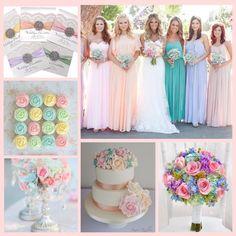 Spring chic pastel weddings