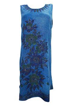 Bohemian Dress Women's Embroidered Stonewashed Sleeveless Blue Sundress Medium Mogul Interior http://www.amazon.com/dp/B01DA5MRSE/ref=cm_sw_r_pi_dp_c2V8wb082G36B