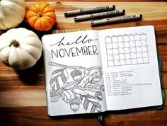 My name is Jenni, and I'm the person behind Ordinary Epiphany. So that's me, this is my bullet journal, some cute pumpkins, my Bujo, Planner Organisation, Types Of Journals, Hello November, Bullet Journal Inspiration, Journal Ideas, Cecile, Cute Pumpkin, Arts And Crafts Projects
