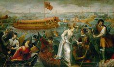 Antonio Vassilacchi - Caterina Cornaro's entry into Venice