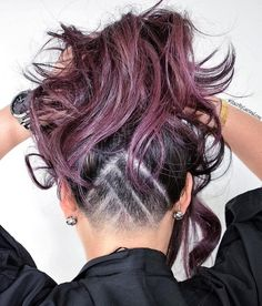 Burgundy+Hair+With+Nape+Undercut