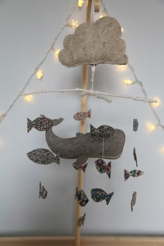 Pehr's beautiful handmade mobile - Artemis / junkaholique/ Love this Melissa and Jake, a joint effort if you feel the urge to change the mobile! Baby Crafts, Diy And Crafts, Nautical Mobile, Hanging Mobile, Nursery Inspiration, Wedding Art, Handmade Baby, Cool Diy, Decoration
