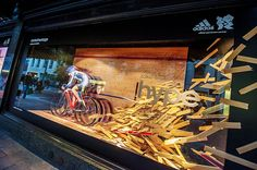 adidas take-over Harrods windows with unique Olympic displays #PRStunts