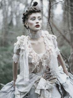 Poor Princess      Olga Pantushenkova by Paolo Roversi for Vogue UK 1994