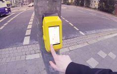 """Estudantes criam botão de semáforo com versão de """"Pong"""""""