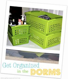Dorm Room Organization Ideas. Pin now, read later...later as in, a month.