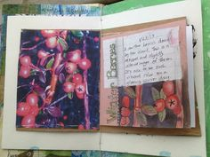 Winter Berries Journal Page by Debbie Smith Art, via Flickr