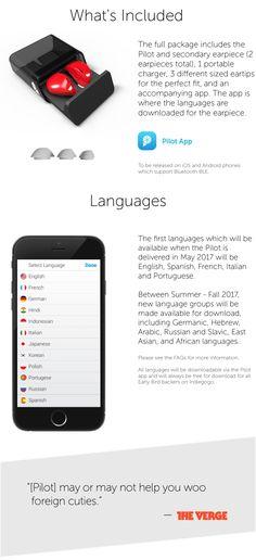 A world without language barriers: The Pilot is an earpiece which translates between languages. | Le crowdfunding est une façon démocratique de répondre aux besoins en financement de votre communauté. Contribuez dès aujourd'hui!