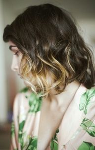 Ombre curls - you can get this with the DevaCurl Pintura highlighting technique! Ask Casey at the Carytown #Bombshell