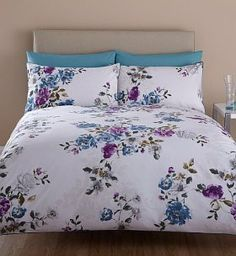 From Marks and Spencer's Kensington range - With elegant florals and a soothing colour palette, your home will ooze timeless sophistication. Floral bedset from £39.50.