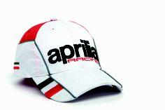 2012 baseball cap: 3D embroidery, micro-injection italian flag, mesh insert on visor, adjustable Velcro strap #white #Aprilia #black #racing #teamwear #superbike #motorbike #motorcycle #sport #cap #Italy