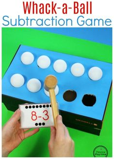 AWESOME Subtraction idea for kids - Whack-a-Ball Subtraction