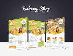 Promote your business with a unique and creative flyer template package.  Perfect for a wide range of baked goods businesses like: Bakery Shop, Fine Pastries & Sweets or Farm.