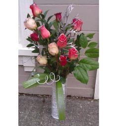 Silver Anniversary~ a silver floral arrangement.