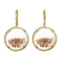 Fab.com   Catherine Weitzman: Shaker Earrings Champagne, at 40% off!