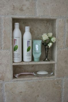 Shower recess, perfect for storage of your everyday products