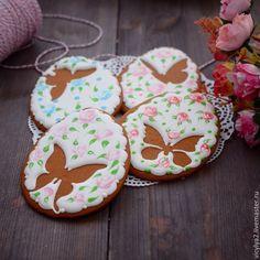 """Купить """"Butterfly air"""" пряники-козули - разноцветный, бабочка, козули, пряники, имбирное печенье"""
