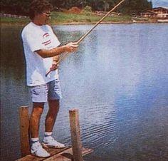 Ayrton Senna fishing