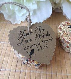 51 Ideas Garden Party Wedding Favors For 2019 Bird Seed Wedding Favors, Bird Seed Favors, Creative Wedding Favors, Inexpensive Wedding Favors, Love Birds Wedding, Cheap Favors, Wedding Favors For Guests, Wedding Ideas, Wedding Reception