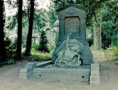 The tomb of Jules Verne – The famed science fiction author died from diabetes at the age of 77 on March 24th 1905 in Amiens, France. He was buried here, in the Cimetière de la Madeleine.