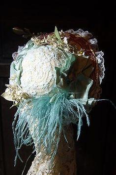 Lindo Chapéu Para O Francês Ou Alemão Antigo Boneca