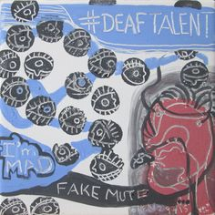 """""""Fake Deaf n Mute"""" Uproar from Deaf Community about hearing woman being a cast of Deaf Mute Character in the movie """" Medeas . social media viral. """"DeafTalent"""" and I'm MAD (Medeas and DeafTalent) In this artwork, right side is a hearing person in the mask of profiting.  Her tongue with dollar symbol that she earned money to fed herself while Deaf talented actresses dont have jobs.The black dots are"""" People of Eye"""" is campaigning against Hollywood for hiring s hearing for Deaf roles."""