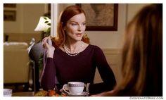 Bree Van De Kamp plum sweater
