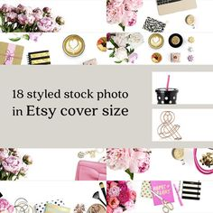 Bundle Etsy Cover Photo // Styled Stock Photography In Etsy Cover Size // Jpg @300dpi 3360x840 px // Instant Download // Commercial Use