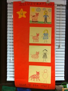 My illustration rubric. We shoot for the star (4- lots of colors and details). My kids say my illustrations are a 5, so they want to make a 5 too. :) Love them!
