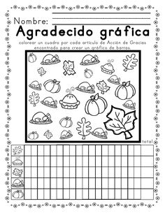 Otoño-temático alfabetismo & mates / Fall-themed Literacy and Math Activities Spanish