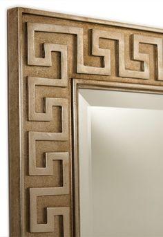 Greek Key Mirror, SAPM1002. http://www.fschumacher.com/products/furnishings/tearsheets/SCH_SAPM1002_tearsheet.pdf #Schumacher