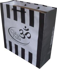 Sacola de papel personalizada www.papelsustentavel.com.br