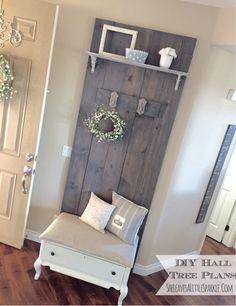 EASY DIY Hall Tree Plans