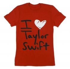Red I Heart Taylor Swift Tee ON SALE FOR 20 DOLLARS