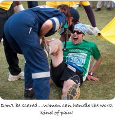 Don't be scared.....women can handle the worst kind of pain ! @Comrades Marathon Association pic.twitter.com/7aanh9RnVk