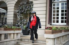 Deep Black & Burning Red - Casual Outfit for Valentine