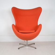 Egg Chair in Orange Egg Chair, Eggs, Lounge, Furniture, Home Decor, Style, Airport Lounge, Swag, Lounge Music